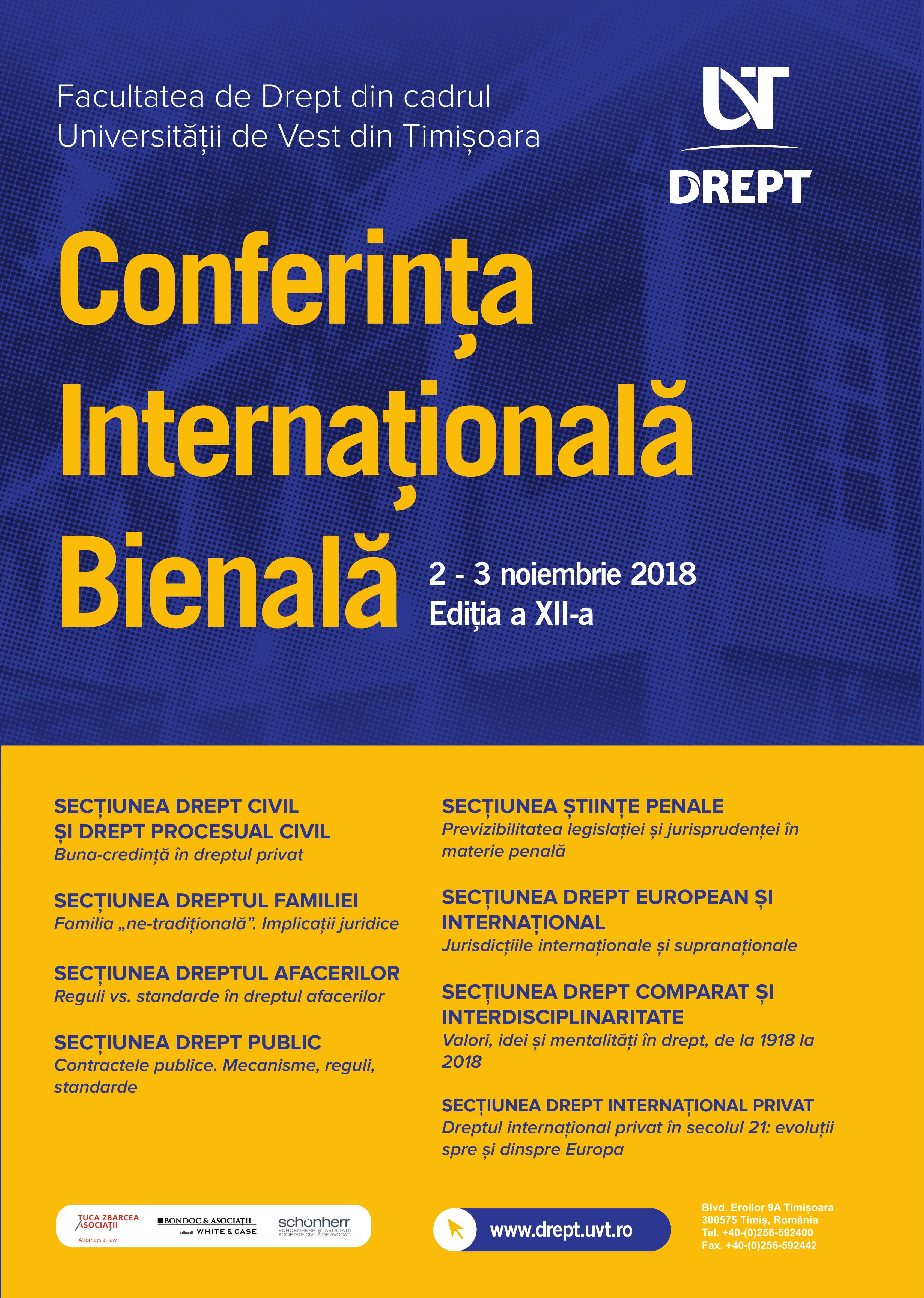 DREPT UVT Binenala 2018